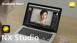 Kan een afbeelding zijn van 1 persoon en de tekst 'Available Now! Nikon NX Studio'